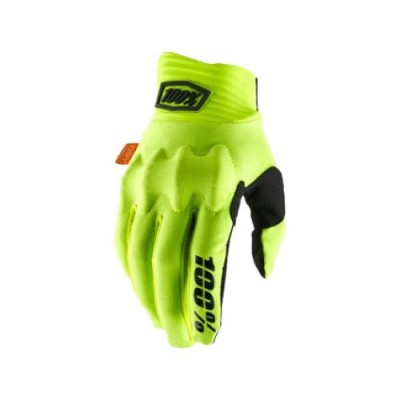100% COGNITO Fluo Yellow/Black Gloves